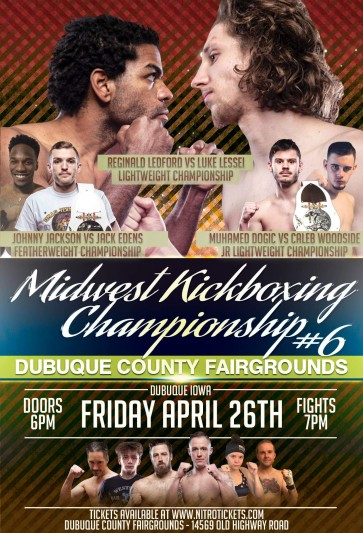 Midwest Kickboxing Championship: Dubuque, IA – 04/26
