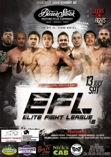 Elite Fight League 6 – 07/13