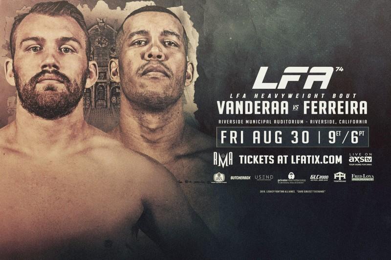 LFA 74: Riverside, CA – 08/30