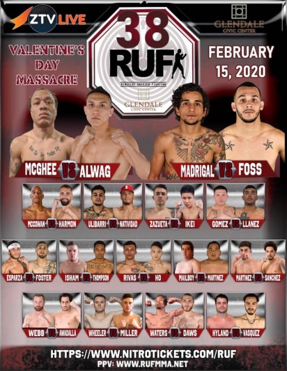 RUF MMA 38: Valentine's Day Massacre