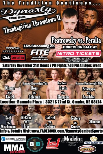 Dynasty Combat Sports: Thanksgiving Throwdown