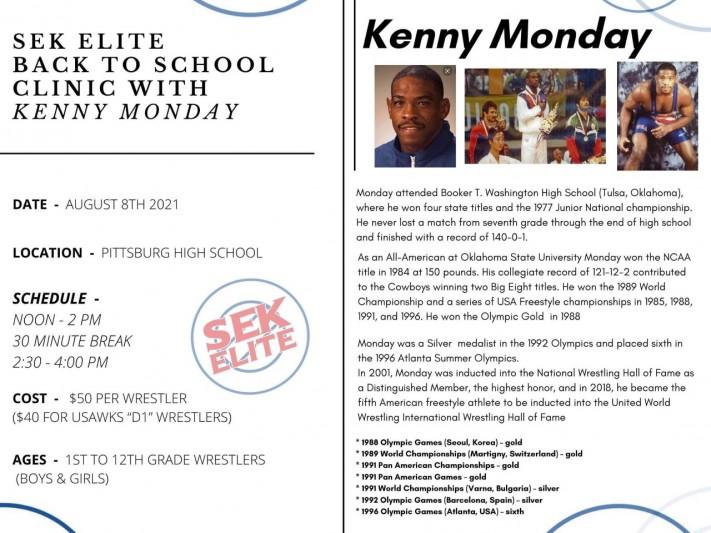 SEK Elite Back to School Clinic W/ Kenny Monday