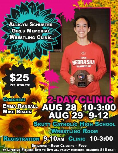 Allicyn Schuster Girls Memorial Wrestling Clinic