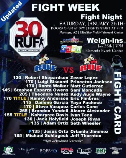 RUF 30: MMA Fight Night